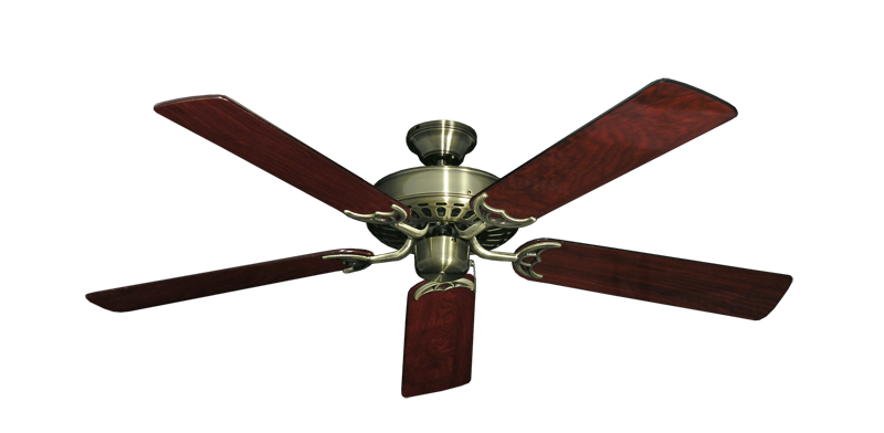 """Picture of Bimini Breeze V Antique Brass with 52"""" Cherrywood Gloss Blades"""