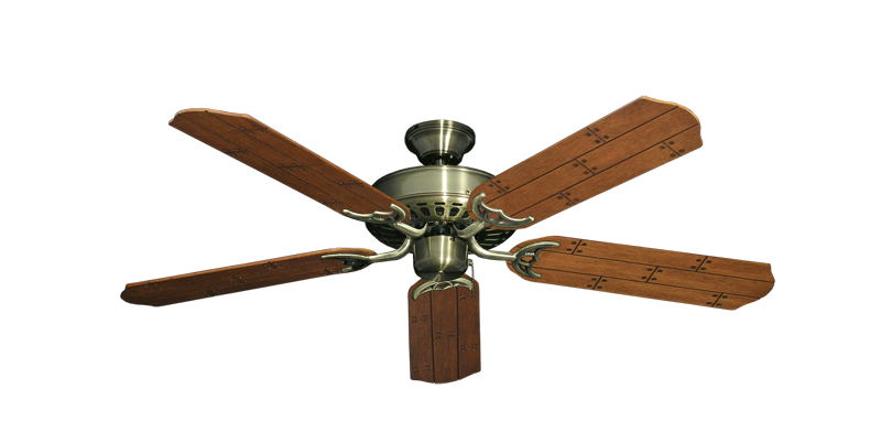 "Picture of Bimini Breeze V Antique Brass with 52"" Cherry Plank Blades"