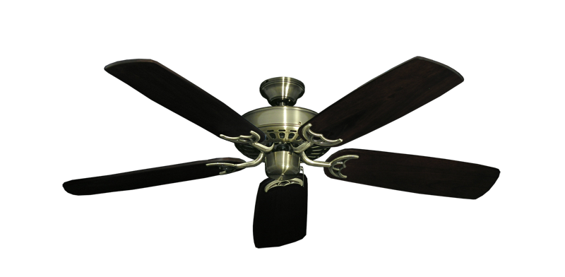 "Picture of Bimini Breeze V Antique Brass with 52"" Series 425 Arbor Dark Walnut Blades"