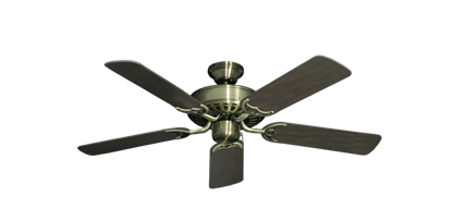 "Picture of Bimini Breeze V Antique Brass with 44"" Outdoor Oil Rubbed Bronze Blades"
