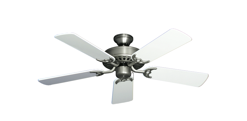 """Picture of Bimini Breeze V Satin Steel with 44"""" Pure White Gloss Blades"""