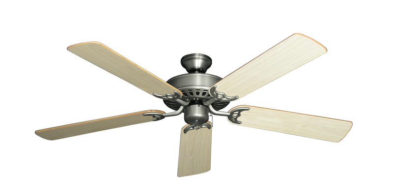 """Picture of Bimini Breeze V Satin Steel with 52"""" Bleached Oak Gloss Blades"""