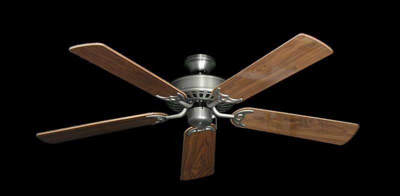 "Picture of Bimini Breeze V Satin Steel with 52"" Walnut Gloss Blades"