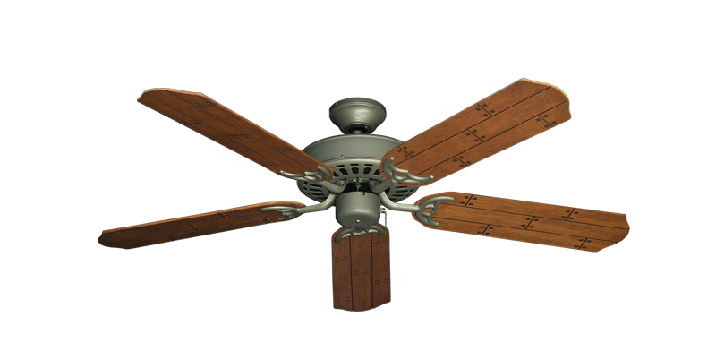 """Picture of Bimini Breeze V Antique Bronze with 52"""" Cherry Plank Blades"""