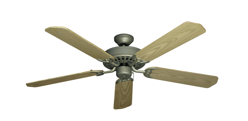 """Picture of Bimini Breeze V Antique Bronze with 52"""" Outdoor Bleached Oak Blades"""