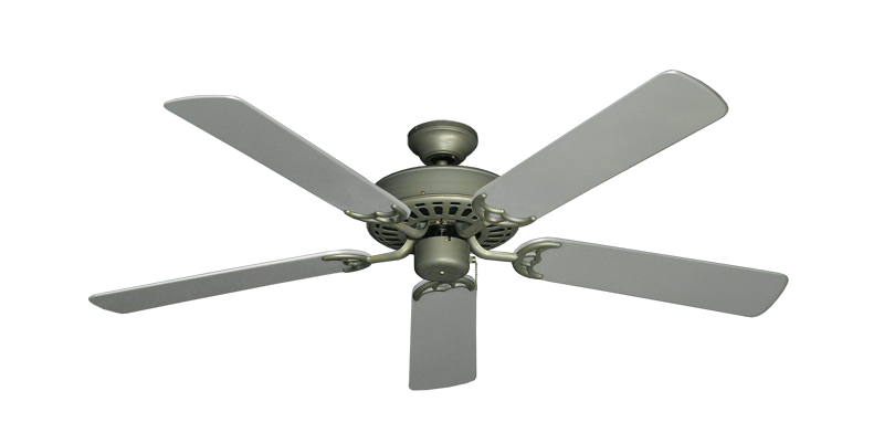 """Picture of Bimini Breeze V Antique Bronze with 52"""" Outdoor Brushed Nickel Blades"""