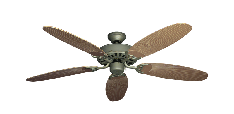 """Picture of Bimini Breeze V Antique Bronze with 52"""" Outdoor Leaf Tan Blades"""