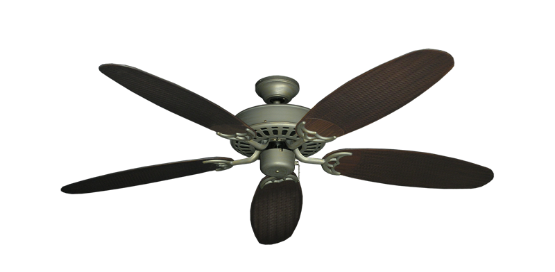 "Picture of Bimini Breeze V Antique Bronze with 52"" Outdoor Wicker Oil Rubbed Bronze Blades"