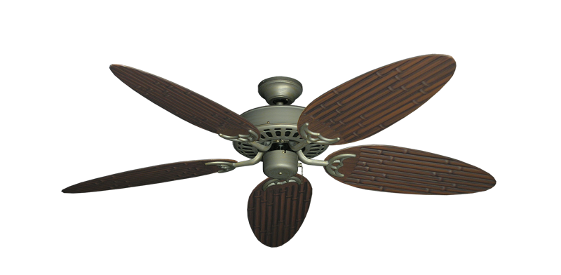 """Bimini Breeze V Antique Bronze with 52"""" Outdoor Bamboo Oil Rubbed Bronze Blades"""