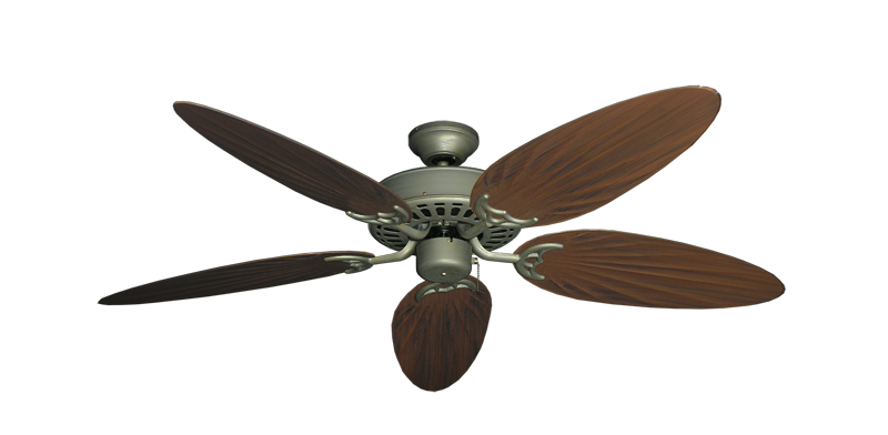 """Picture of Bimini Breeze V Antique Bronze with 52"""" Outdoor Palm Oil Rubbed Bronze Blades"""