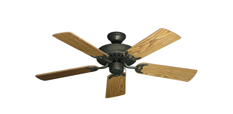"Picture of Bimini Breeze V Oil Rubbed Bronze with 44"" Oak Gloss Blades"
