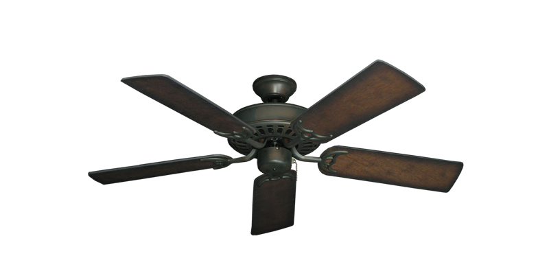 """Bimini Breeze V Oil Rubbed Bronze with 44"""" Distressed Hickory Blades"""