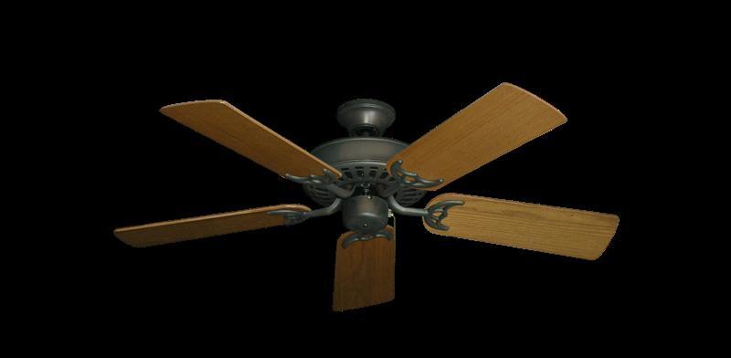 "Picture of Bimini Breeze V Oil Rubbed Bronze with 44"" Light Oak Blades"