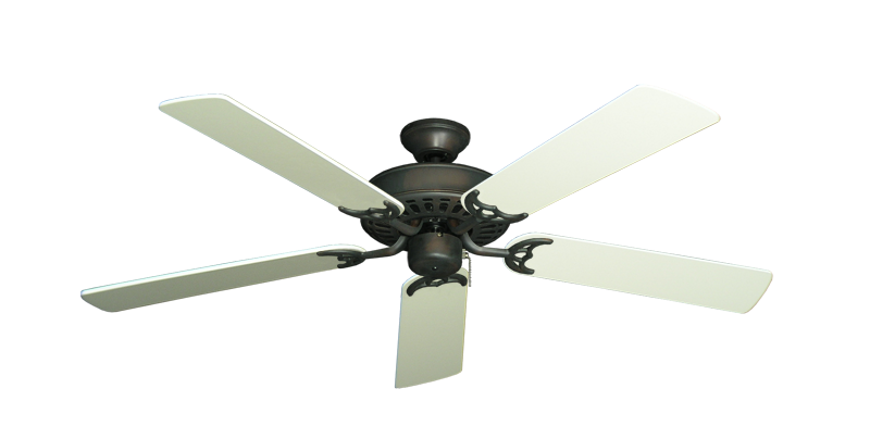 "Picture of Bimini Breeze V Oil Rubbed Bronze with 52"" Antique White Blades"