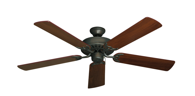 "Picture of Bimini Breeze V Oil Rubbed Bronze with 52"" Walnut Blades"