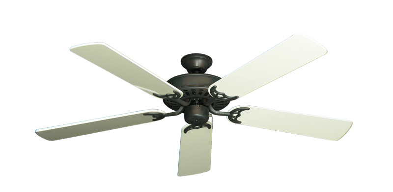 "Bimini Breeze V Oil Rubbed Bronze with 52"" Antique White Gloss Blades"