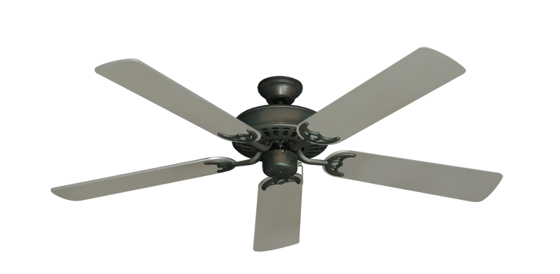 """Bimini Breeze V Oil Rubbed Bronze with 52"""" Satin Steel (painted) Blades"""