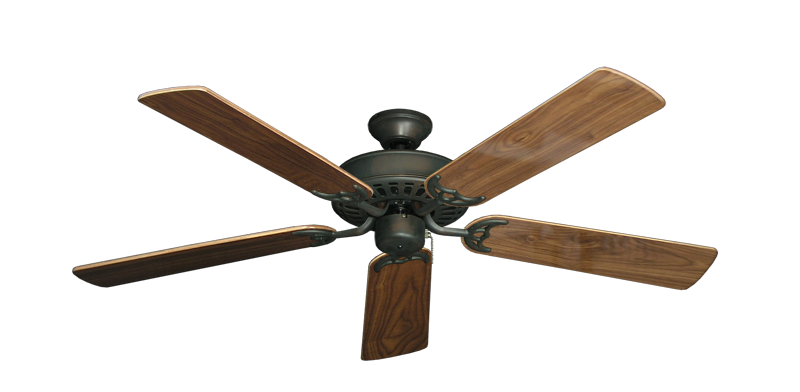 """Picture of Bimini Breeze V Oil Rubbed Bronze with 52"""" Walnut Gloss Blades"""