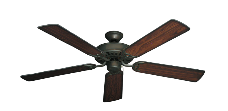 """Picture of Bimini Breeze V Oil Rubbed Bronze with 52"""" Burnt Cherry Blades"""