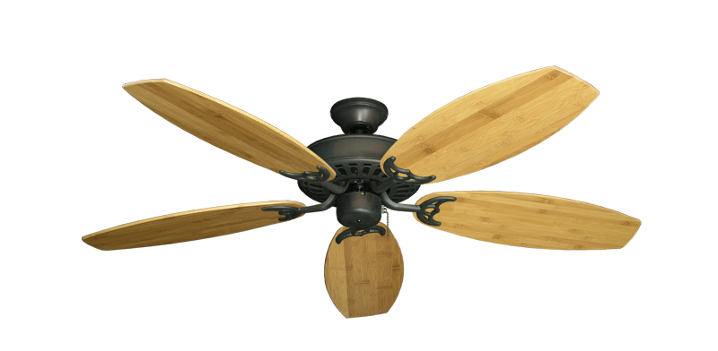 """Picture of Bimini Breeze V Oil Rubbed Bronze with 52"""" Oar Bamboo Brown Blades"""