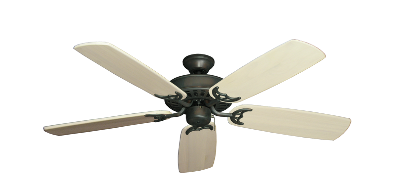 "Picture of Bimini Breeze V Oil Rubbed Bronze with 52"" Series 425 Arbor Whitewash Blades"