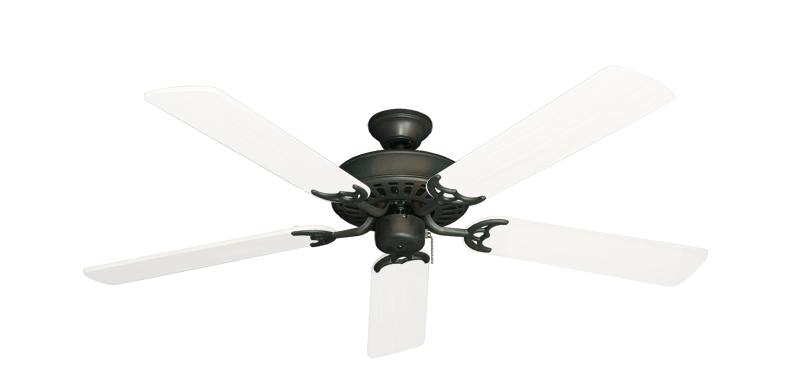 "Picture of Bimini Breeze V Oil Rubbed Bronze with 52"" Outdoor Pure White Blades"