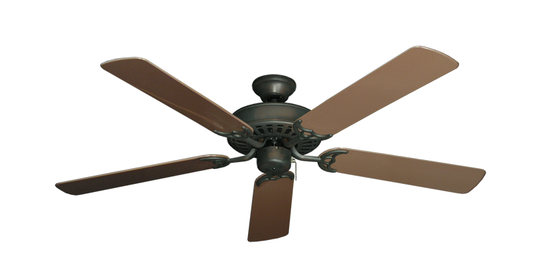 "Picture of Bimini Breeze V Oil Rubbed Bronze with 52"" Outdoor Brown Blades"