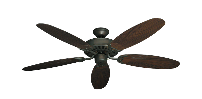 """Picture of Bimini Breeze V Oil Rubbed Bronze with 52"""" Outdoor Leaf Oil Rubbed Bronze Blades"""
