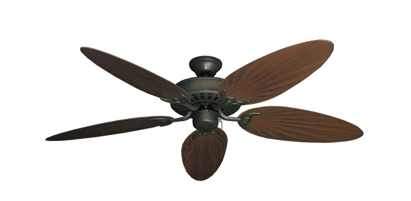 "Picture of Bimini Breeze V Oil Rubbed Bronze with 52"" Outdoor Palm Oil Rubbed Bronze Blades"