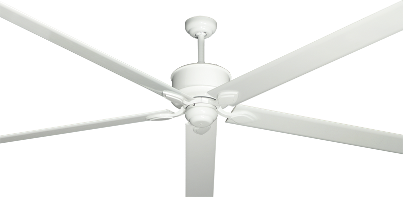 "Picture of Hercules Pure White with 96"" Aluminum Pure White Blades"