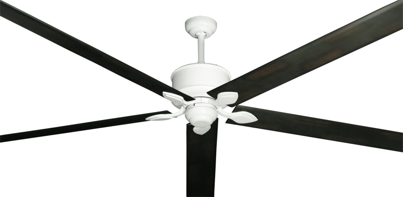 """Picture of Hercules Pure White with 96"""" Aluminum Oil Rubbed Bronze Blades"""