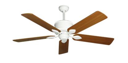 "Picture of Hercules Pure White with 52"" Teak Blades"