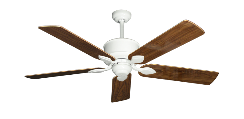 "Picture of Hercules Pure White with 52"" Walnut Gloss Blades"