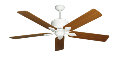 "Picture of Hercules Pure White with 56"" Teak Blades"