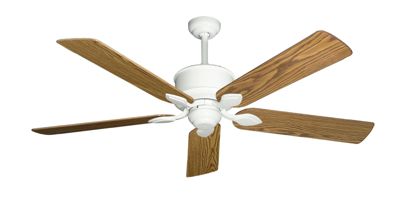 """Picture of Hercules Pure White with 56"""" Oak Gloss Blades"""