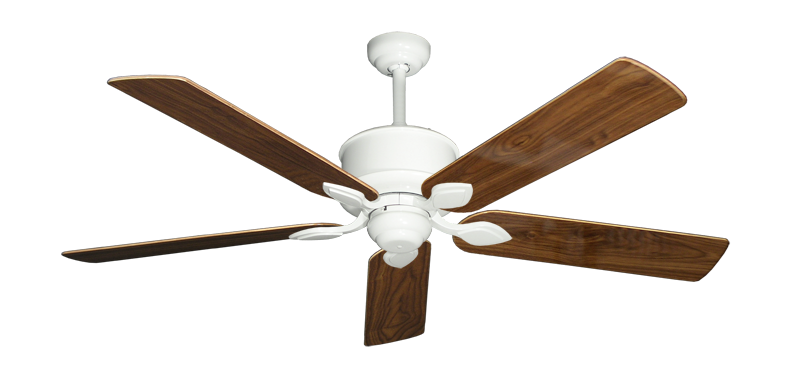 """Picture of Hercules Pure White with 56"""" Walnut Gloss Blades"""