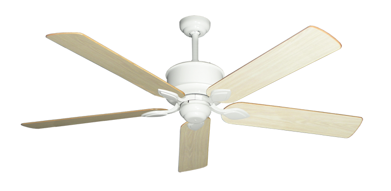 """Picture of Hercules Pure White with 60"""" Unfinished Oak Blades"""