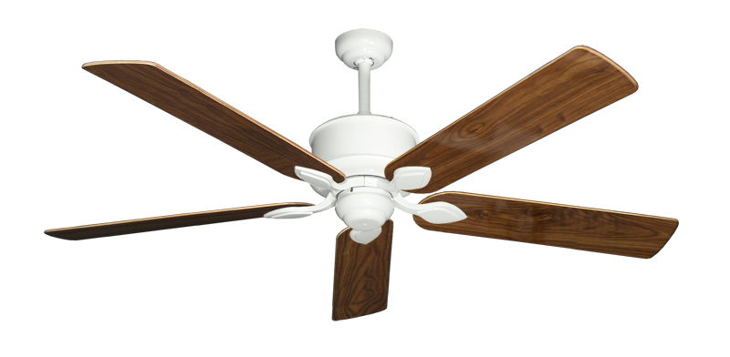 """Picture of Hercules Pure White with 60"""" Walnut Gloss Blades"""