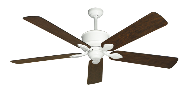 """Picture of Hercules Pure White with 60"""" Distressed Walnut Blades"""