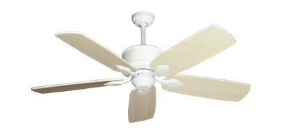 "Picture of Hercules Pure White with 52"" Series 710 Arbor Whitewash Blades"