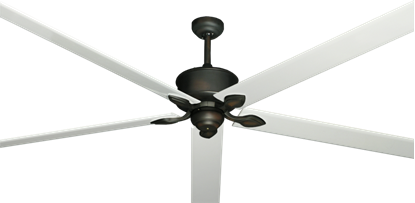 "Picture of Hercules Oil Rubbed Bronze with 96"" Aluminum Pure White Blades"