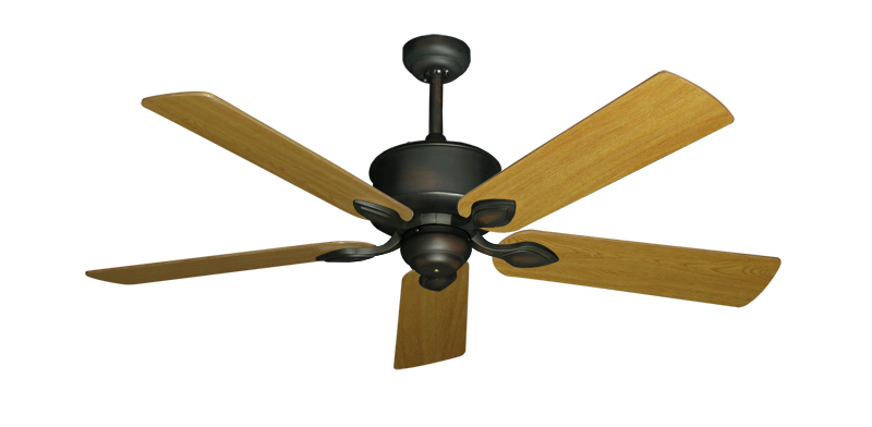 """Picture of Hercules Oil Rubbed Bronze with 52"""" Honey Oak Blades"""