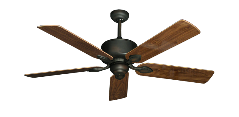 """Picture of Hercules Oil Rubbed Bronze with 52"""" Walnut Gloss Blades"""