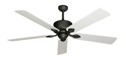 "Picture of Hercules Oil Rubbed Bronze with 60"" Pure White Blades"
