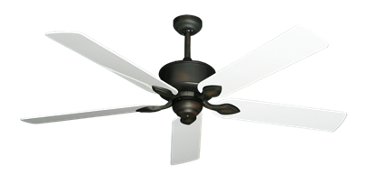 "Picture of Hercules Oil Rubbed Bronze with 60"" Pure White Gloss Blades"