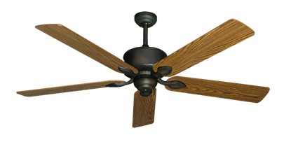 "Picture of Hercules Oil Rubbed Bronze with 60"" Oak Gloss Blades"