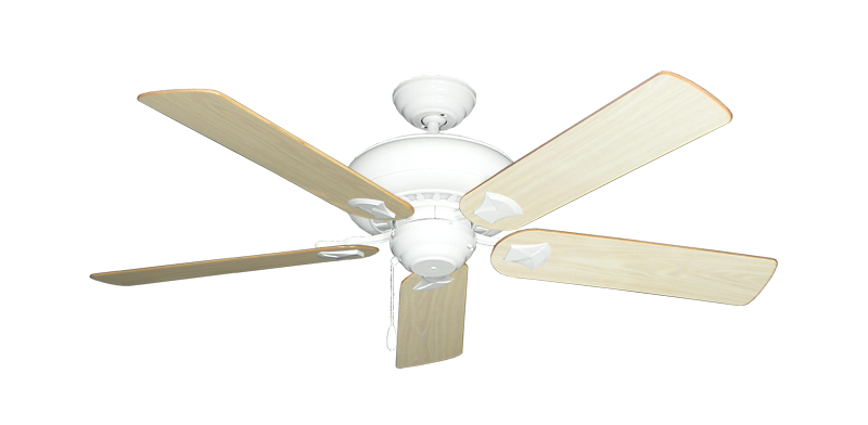 """Picture of Tiara Pure White with 52"""" Bleached Oak Gloss Blades"""