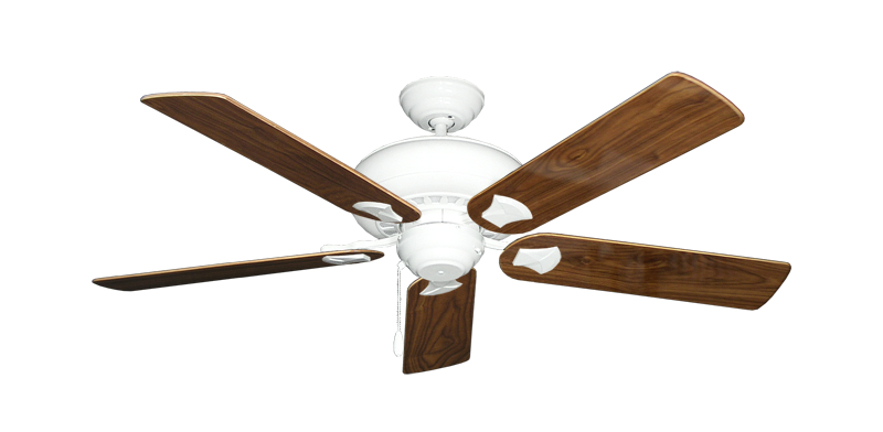 """Picture of Tiara Pure White with 52"""" Walnut Gloss Blades"""