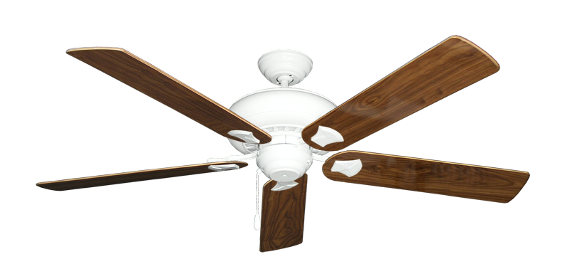 """Picture of Tiara Pure White with 60"""" Walnut Gloss Blades"""