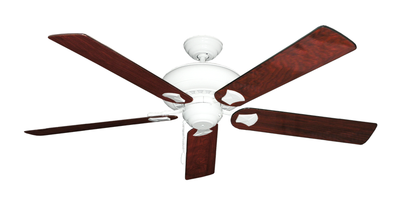 """Picture of Tiara Pure White with 60"""" Cherrywood Gloss Blades"""